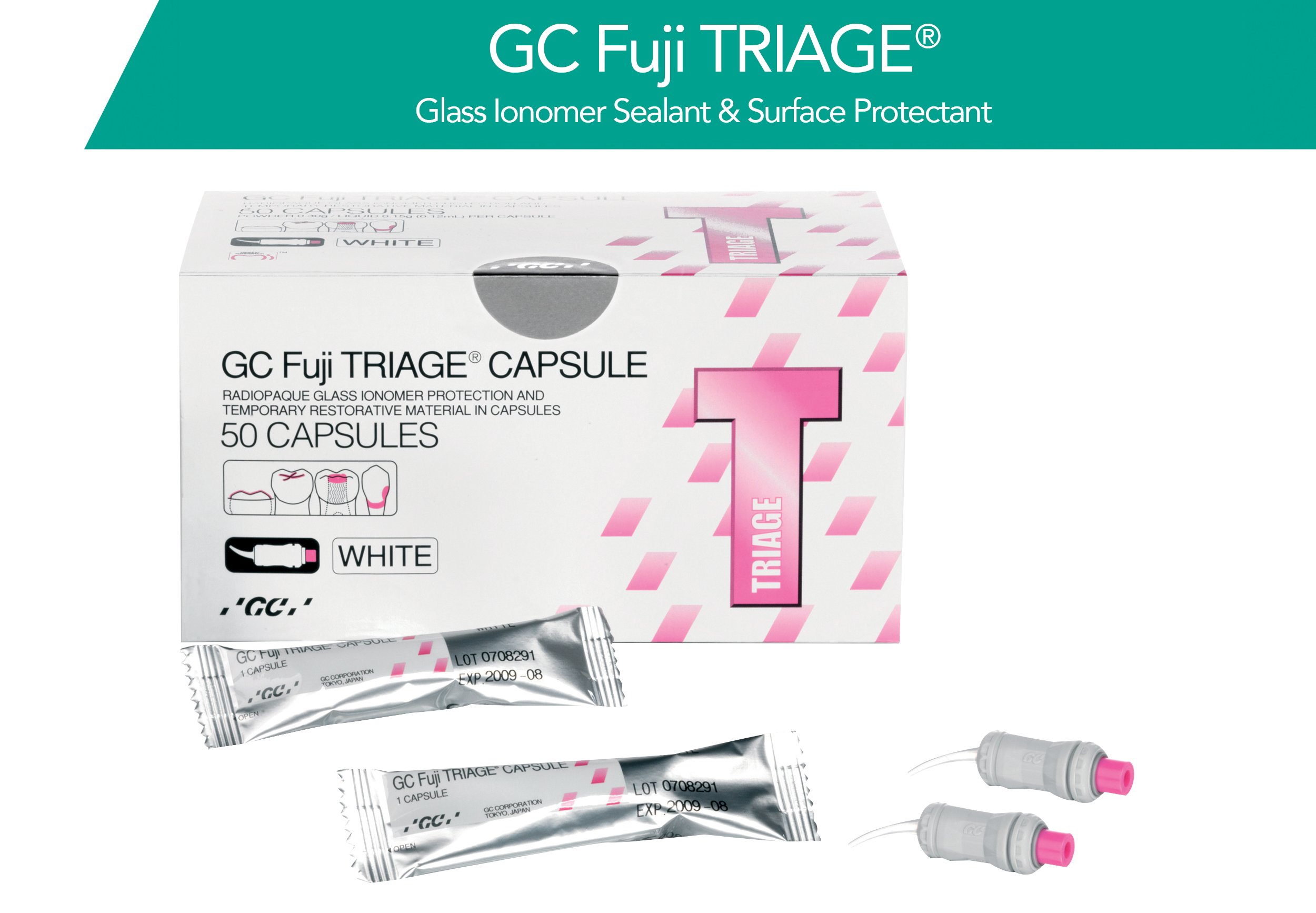 GC Fuji TRIAGE: Glass Ionomer Sealant and Surface Protectant Packshot